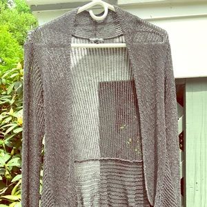 Eileen Fisher Gray Mesh Cardigan